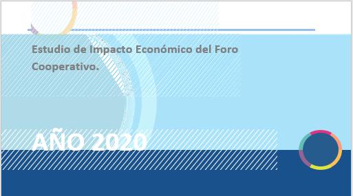 Nueva versión del Estudio de Impacto Económico y Social de las cooperativas del Foro Cooperativo